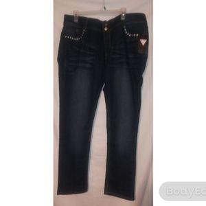 Plus size Dk Indigo Embellished jeans